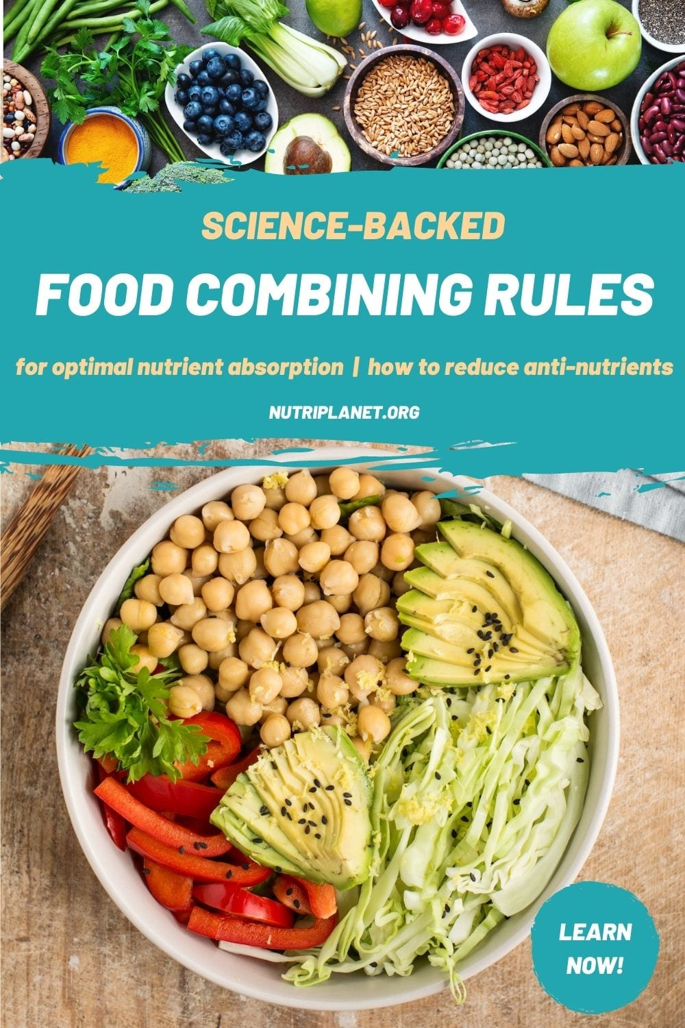 Learn food combining rules that are backed by science to enhance nutrient absorption and degrade the effect of anti-nutrients.