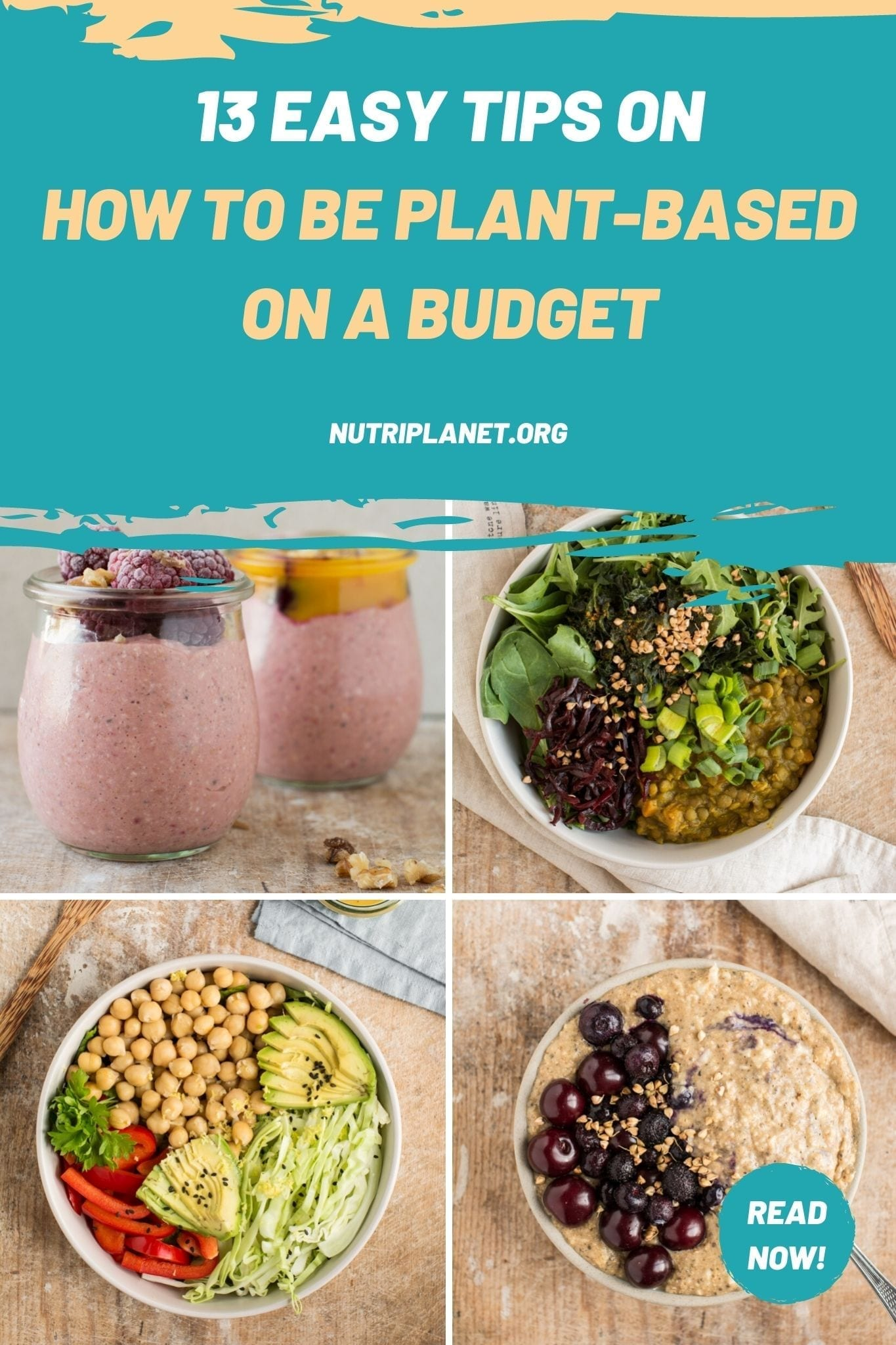 13 easy tips on how to be plant-based on a budget. Healthy and sustainable lifestyle doesn't have to be expensive!