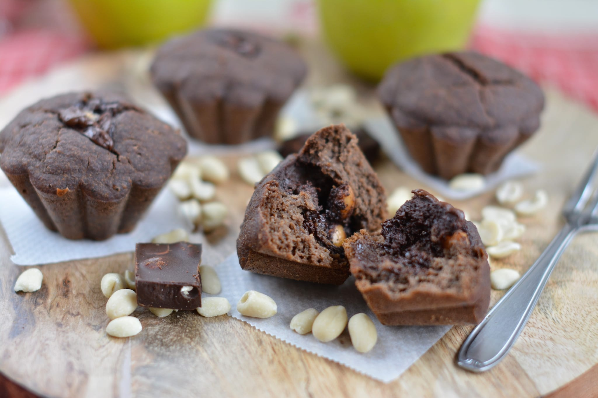 recipe, peanut butter, muffin, plant-based, dessert, sugar-free, oil-free, gluten-free