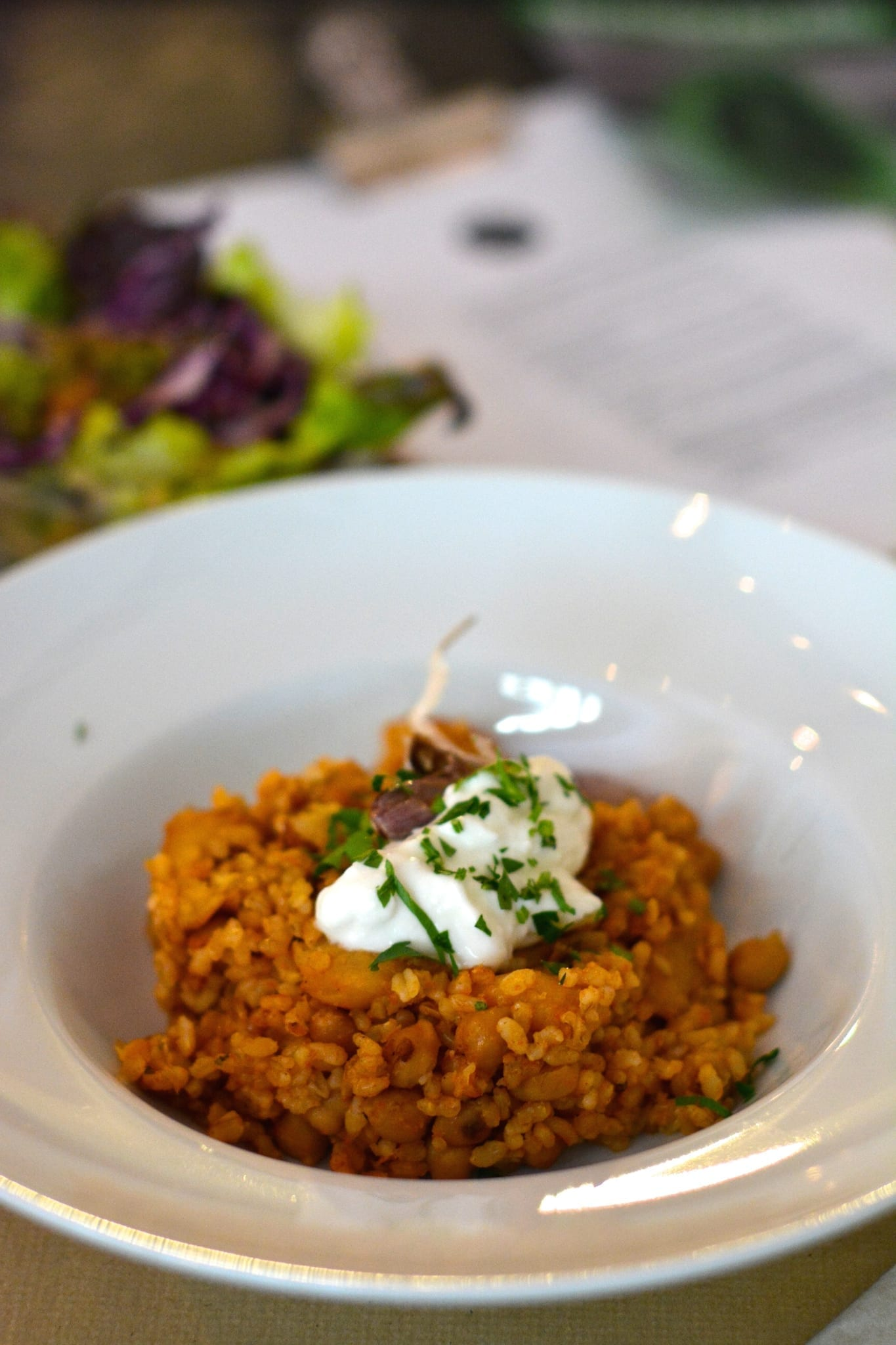 Chickpea Risotto with Garlic