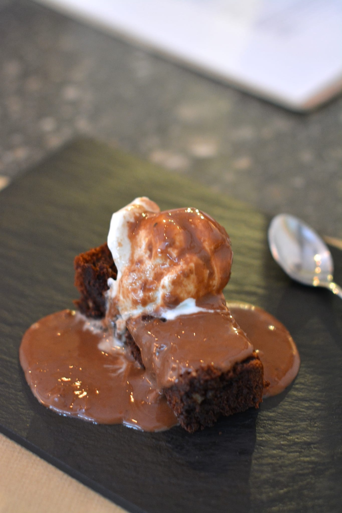 Plant-Based Brownie with Ice-Cream