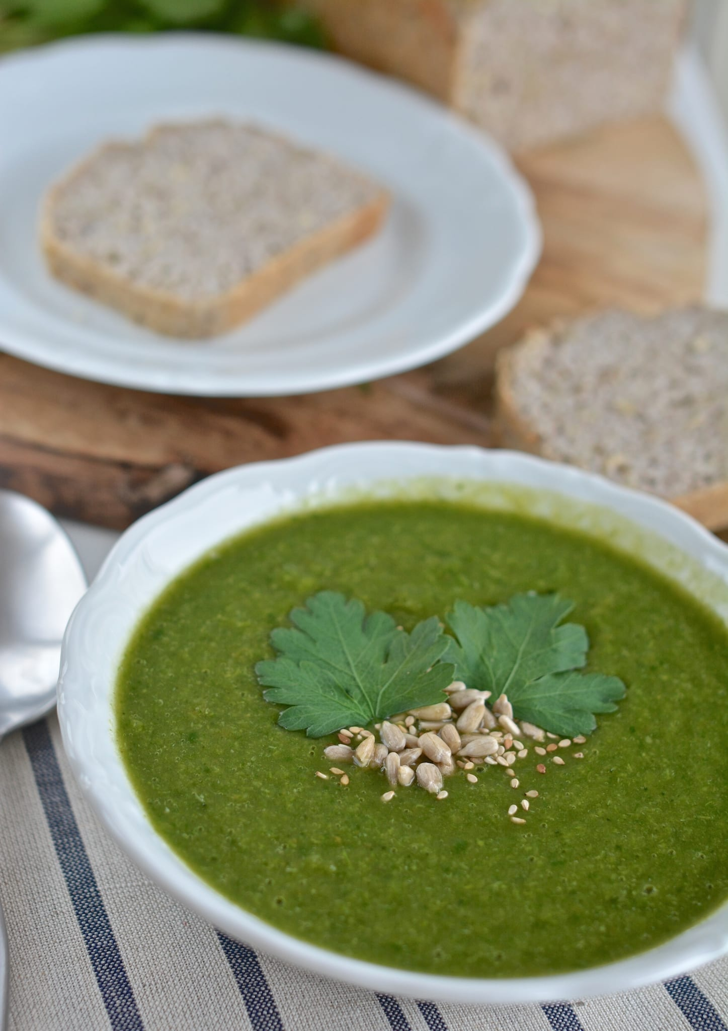 Broccoli-Spinach Soup, Green Food for St. Patrick's Day
