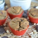 Banana-Mango-Chocolate Chunk Spelt Muffins with Poppy Seeds