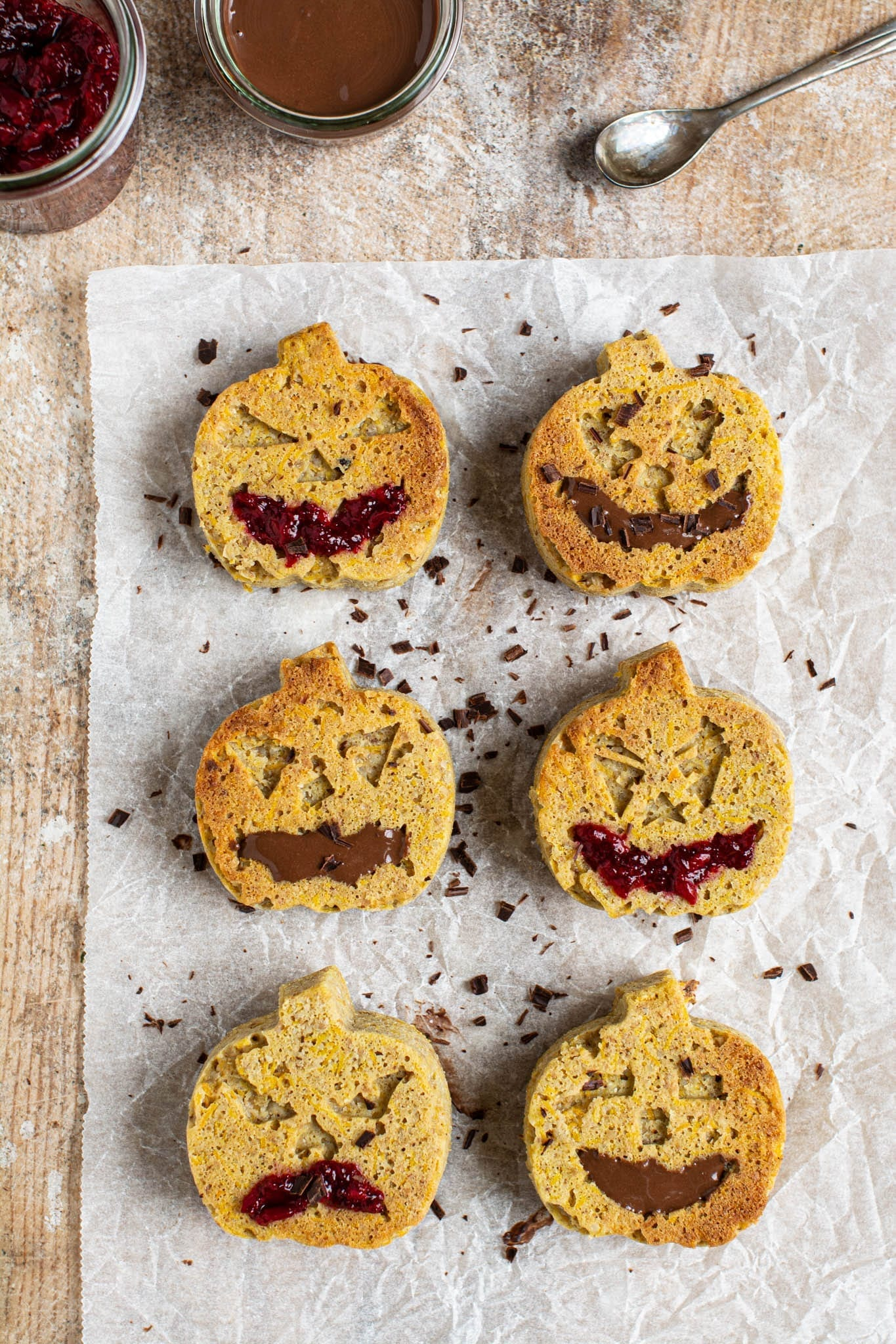 Moist and delicious Halloween butternut squash muffins that are gluten-free, oil-free, low glycemic and vegan.