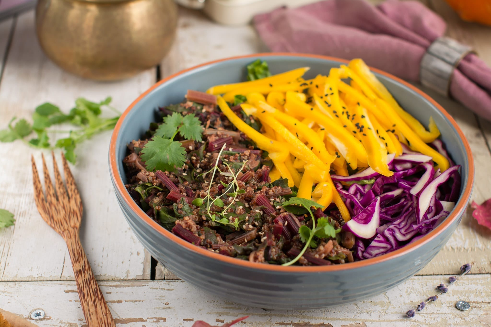 Candida cleanse meal plan Quinoa with onion, nutmeg, cinnamon and miso