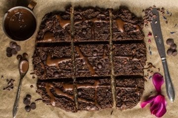 Vegan Gluten Free Brownies with Lentils [Oil Free and Refined Sugar Free]