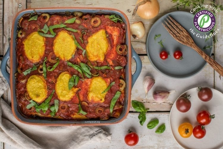 Vegan Squash Casserole with Cashew Cheese, gluten free, grain free, low carb, Candida diet
