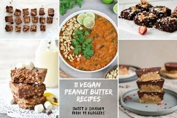11 Vegan Sweet and Savoury Peanut Butter Recipes