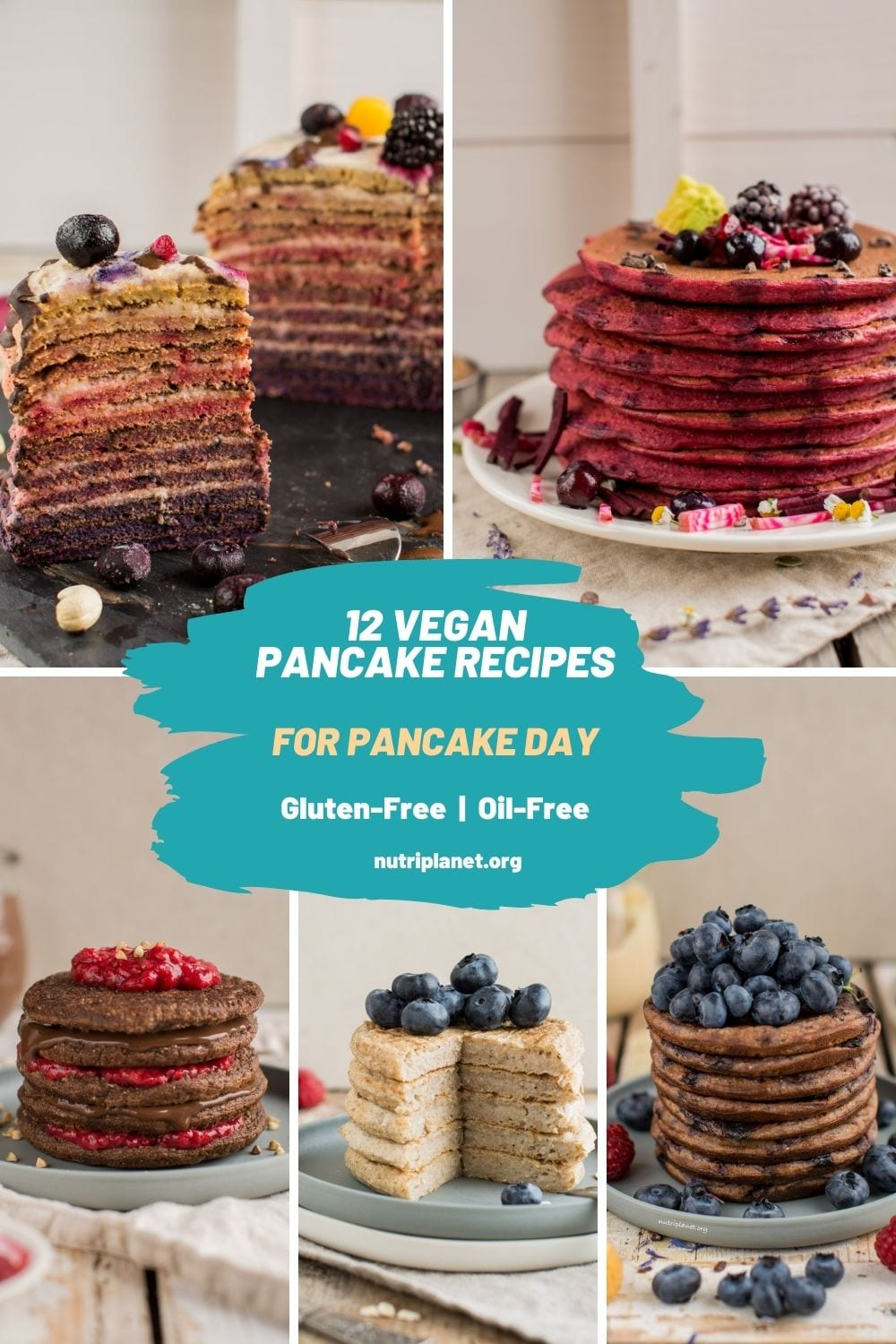 Pancake Day round-up: 12 vegan pancakes that are oil-free, gluten-free and refined sugar free.
