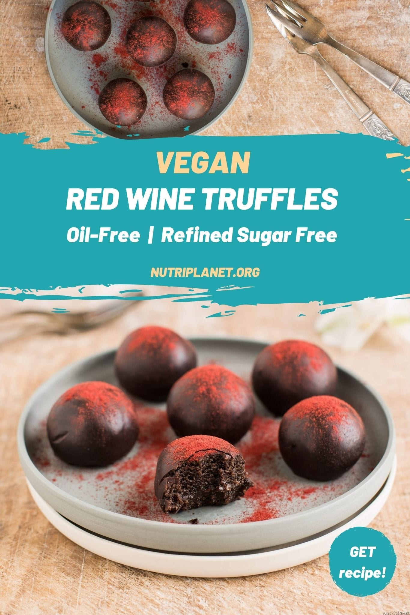 Those vegan truffles with red wine make a decadent chocolate treat for any special occasion.