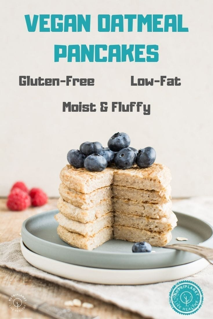 Those light and fluffy vegan oatmeal pancakes with coconut flour excel in simplicity as well as delightful taste.