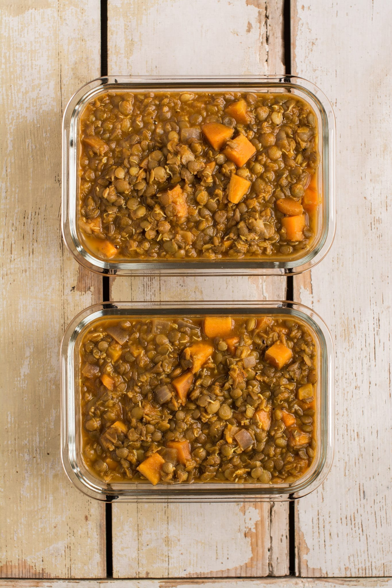 Sweet Potato Lentil Stew [Oil-Free]