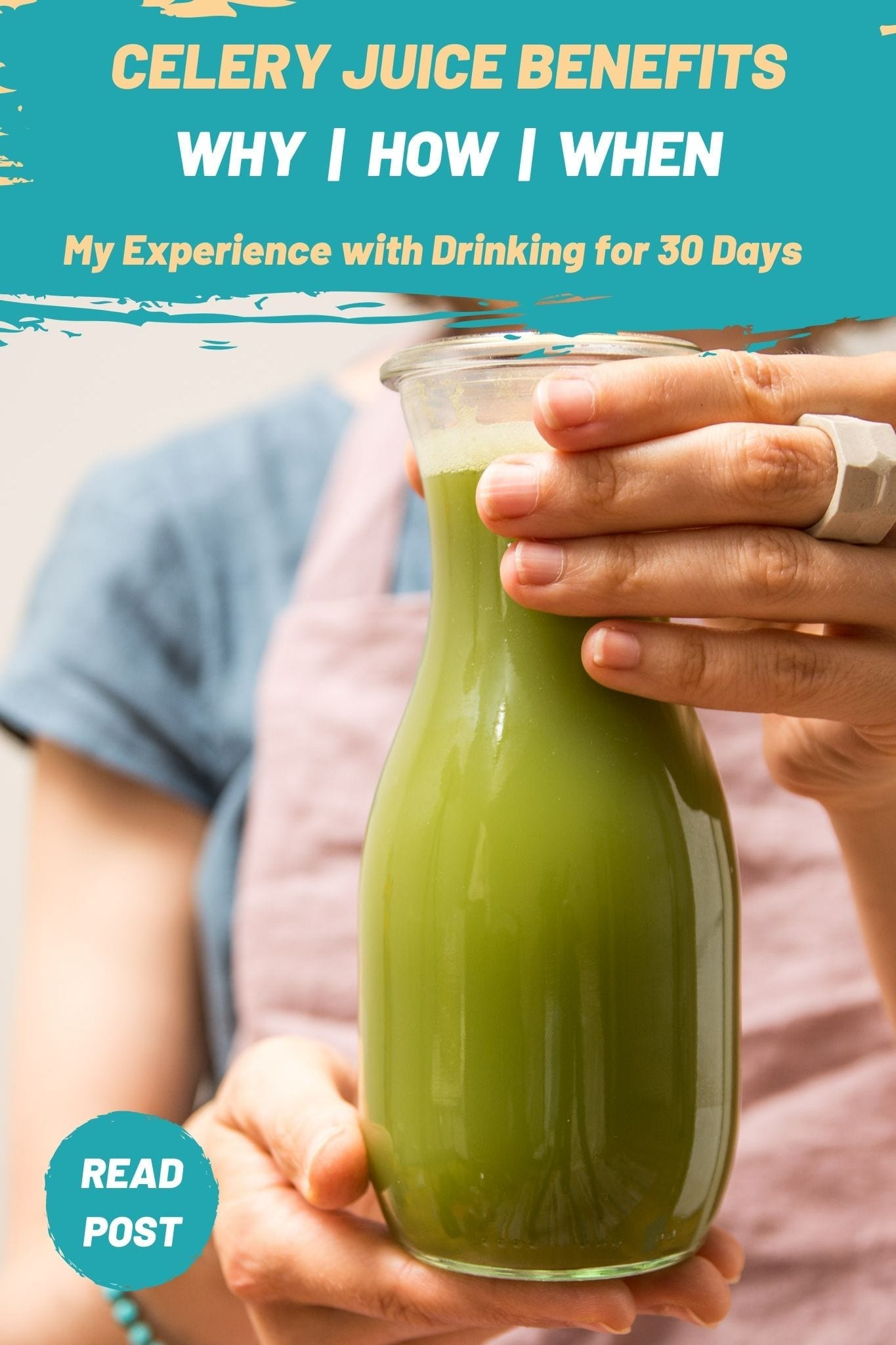 Celery juice benefits, my experience after 30 days and the correct way to drink it.