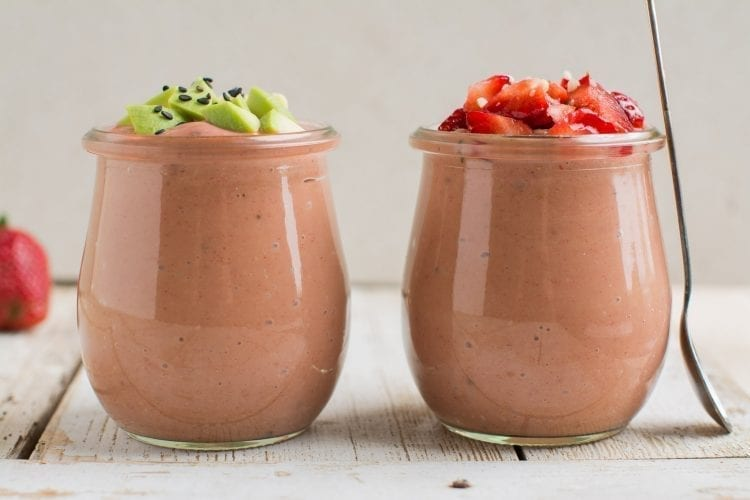 Delicious strawberry avocado smoothie with creamy texture that is extremely easy to make requiring just 3 ingredients. No added sugars or other additives!