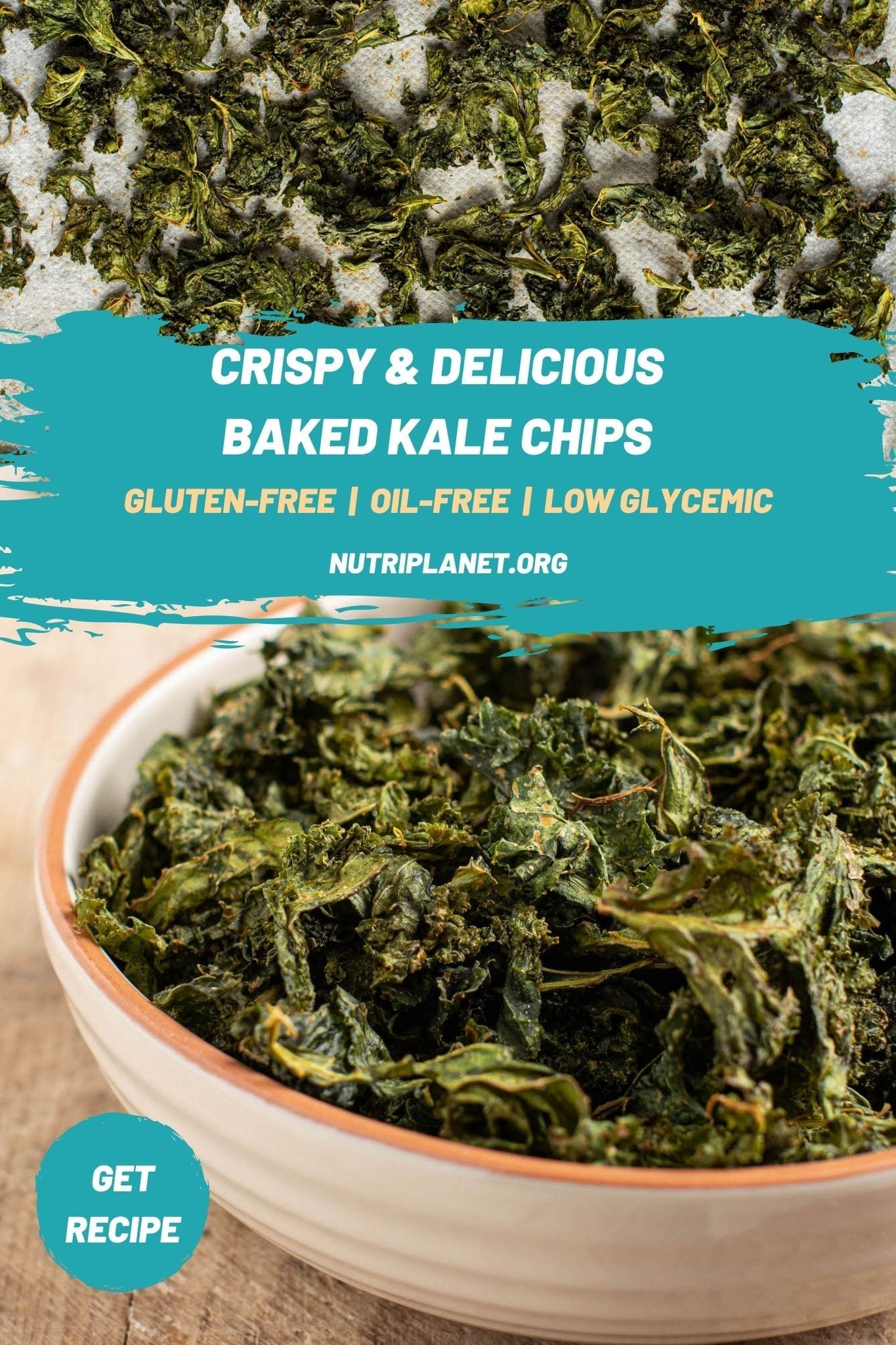 Try those delicious baked kale chips that are also oil-free. It's a great recipe for a healthy snack instead of potato chips for when you crave something crispy and a bit salty.