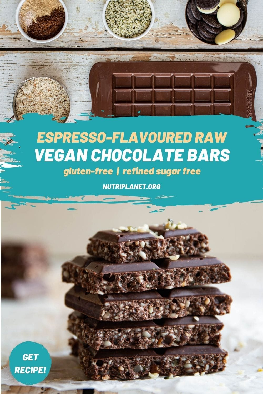 Learn how to make espresso flavoured vegan chocolate bars that resemble Nucao's espresso chocolate bar