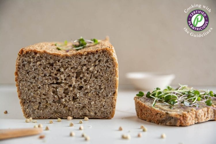 Learn how to make a delicious yeast-free gluten-free sourdough bread using buckwheat and quinoa groats.
