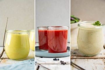 Here's a step-by-step guide of how to make vegan oil-free salad dressings + 6 oil-free salad dressing recipes.