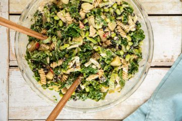 Learn how to make a quick and easy, balanced, delicious, and nutritious kale salad for the whole family.
