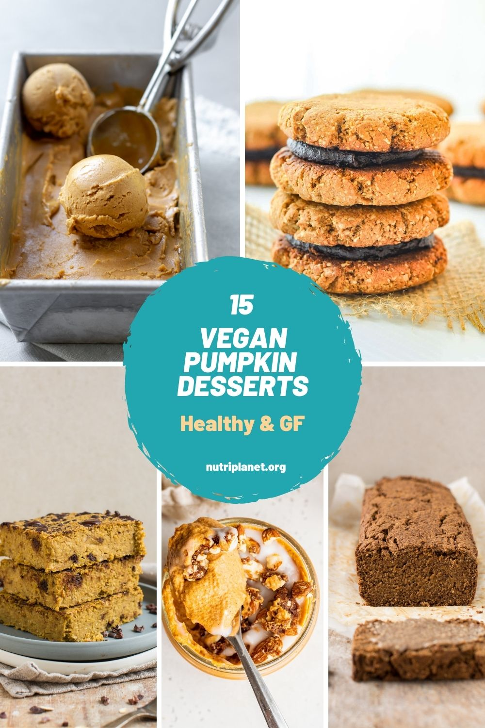 Learn how to make healthy vegan pumpkin dessert recipes. From pumpkin pie, blondies, brownies and ice cream to pumpkin mousse, cheesecake and cookies.