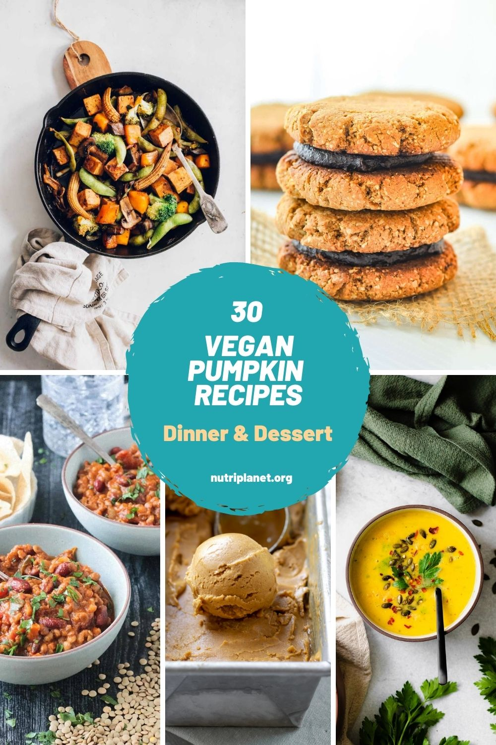 Learn how to make healthy vegan pumpkin recipes, both for dinner and dessert. From pumpkin curry and soups to pumpkin pie, blondies, brownies and ice cream.