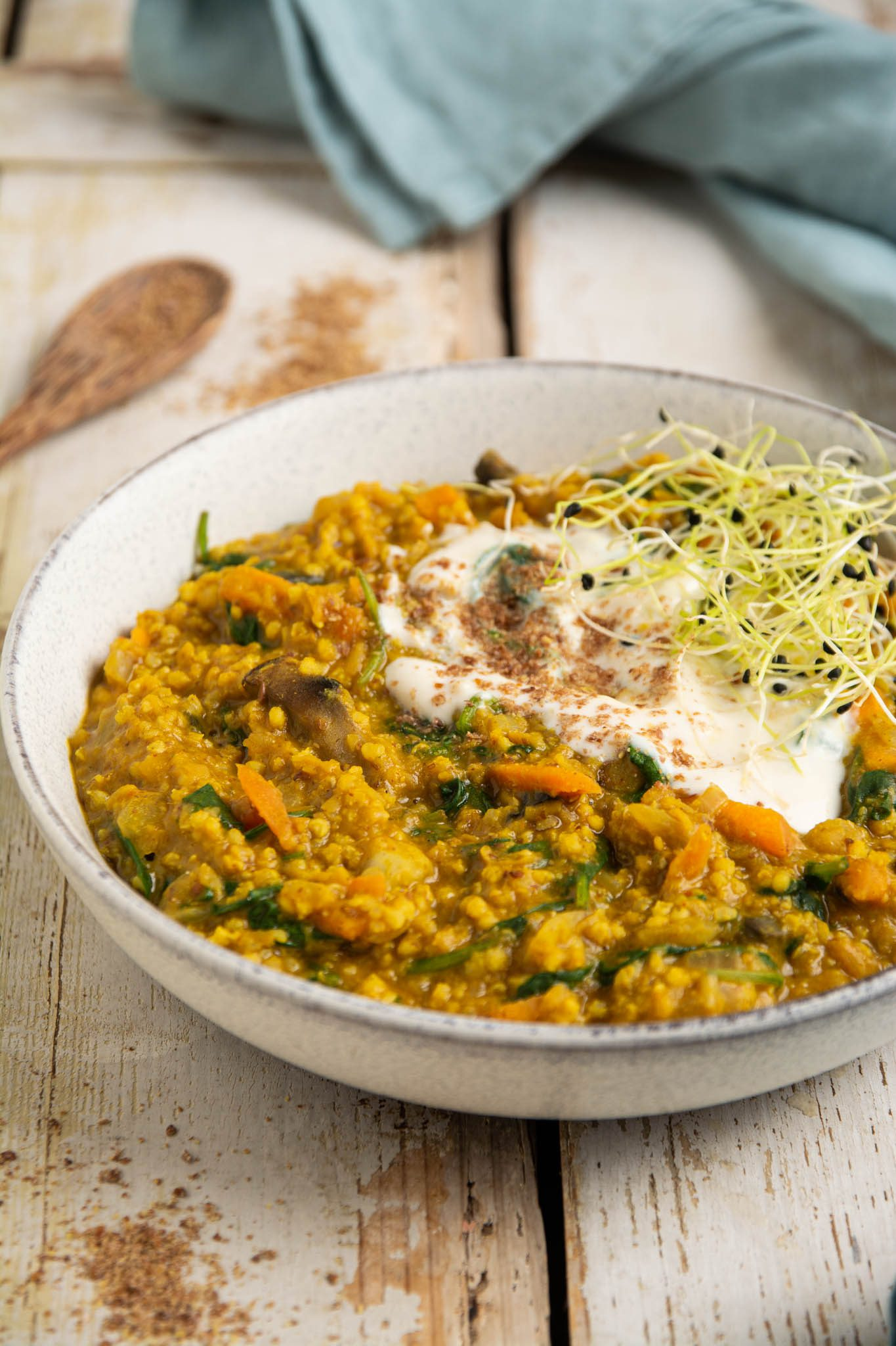 Learn how to make quick and easy millet and lentil stew for a nourishing balancing blood sugar lunch or dinner. You'll need 9 ingredients and about 20 minutes of your time.